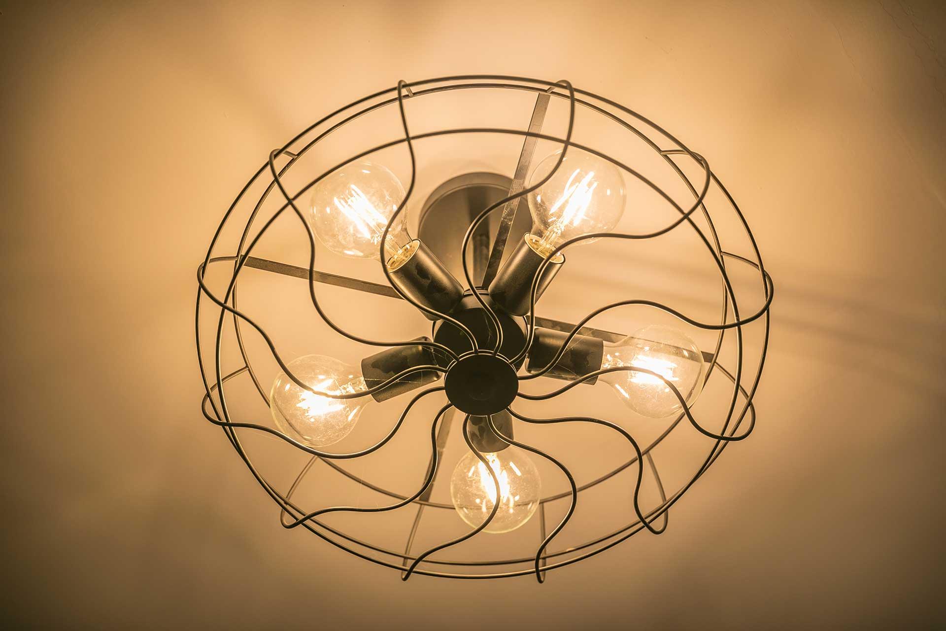 復古電扇造型吸頂燈