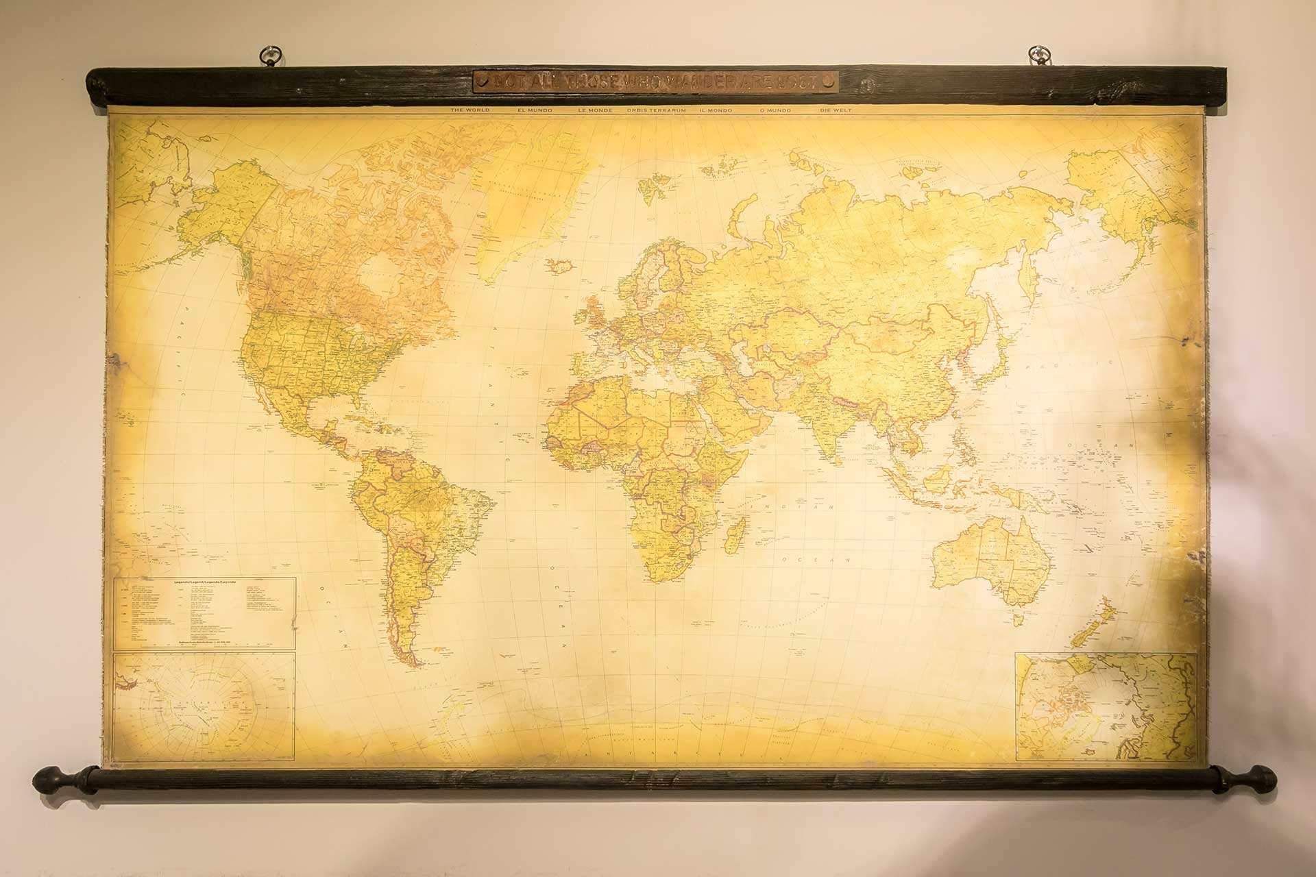 歐洲進口世界地圖裝飾