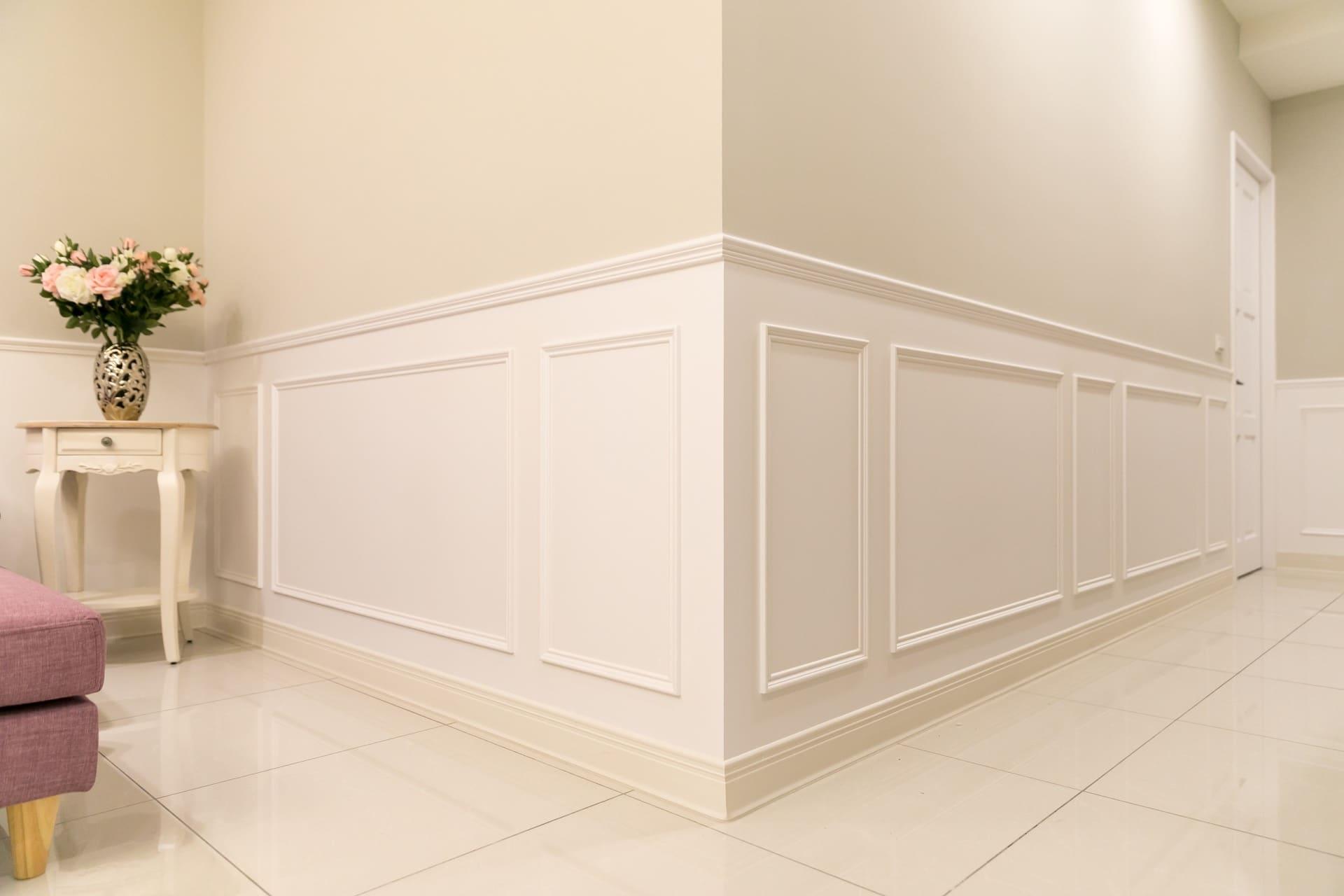 歐式線板設計歐式線板,表面以烤漆工法進行處理,耐髒耐磨
