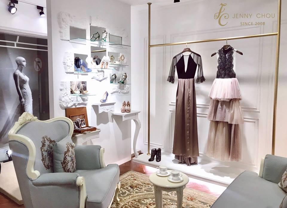 婚紗店面: JENNY CHOU Wedding Gown- 美式風格室內設計裝潢案例