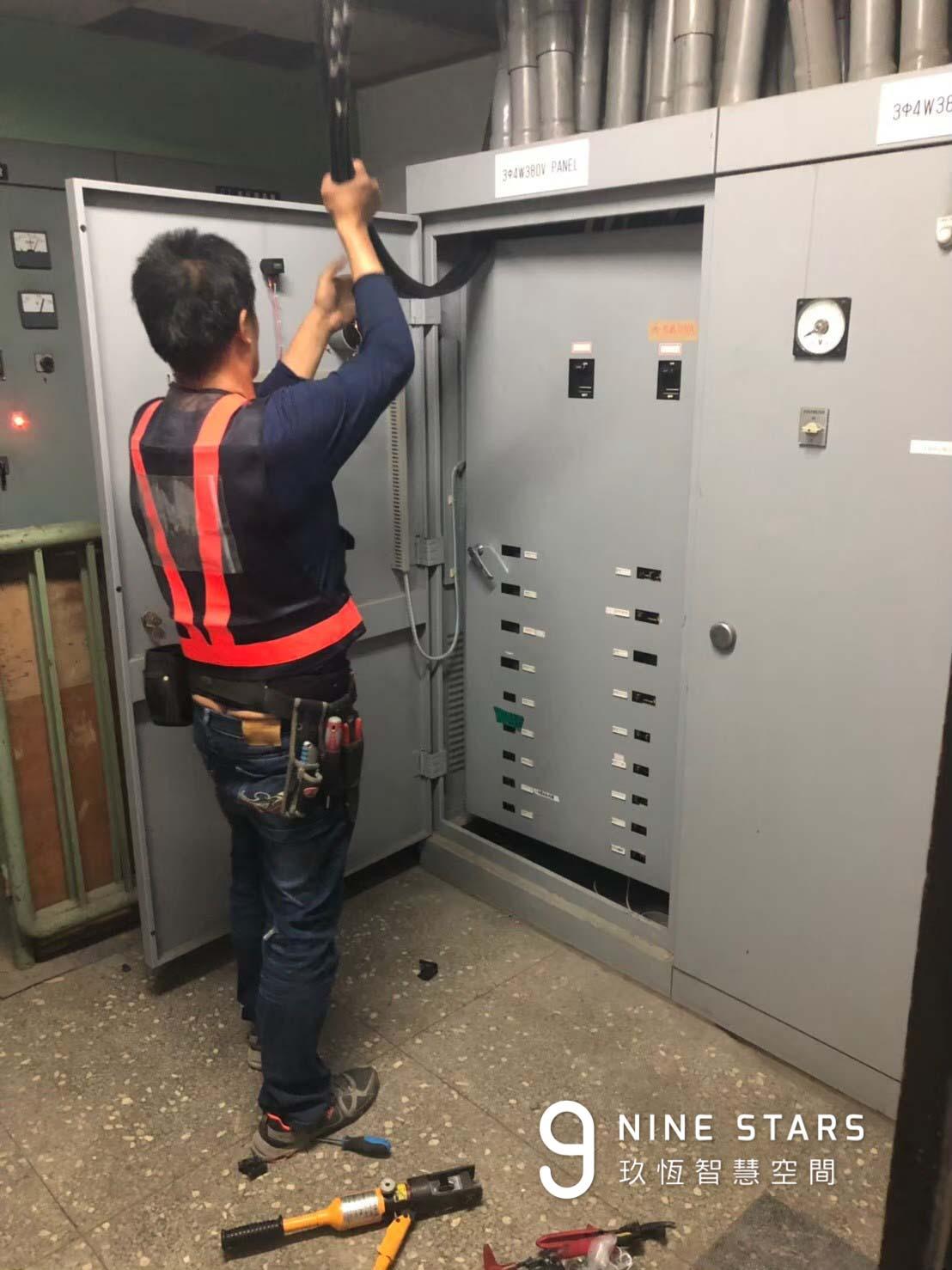 配合醫療器材用電的 380V 電力施工