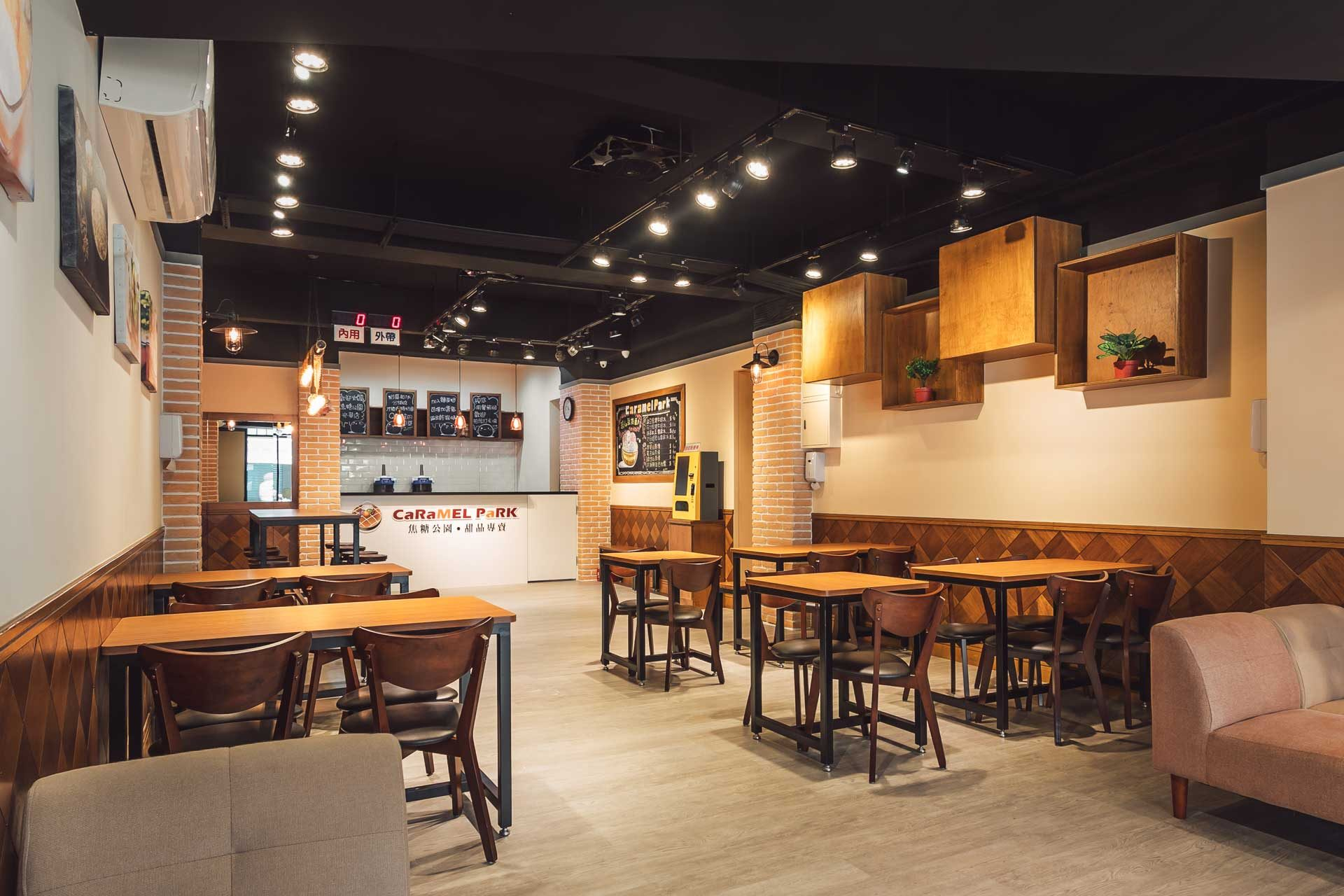 焦糖公園蘆洲光華店店內用餐空間