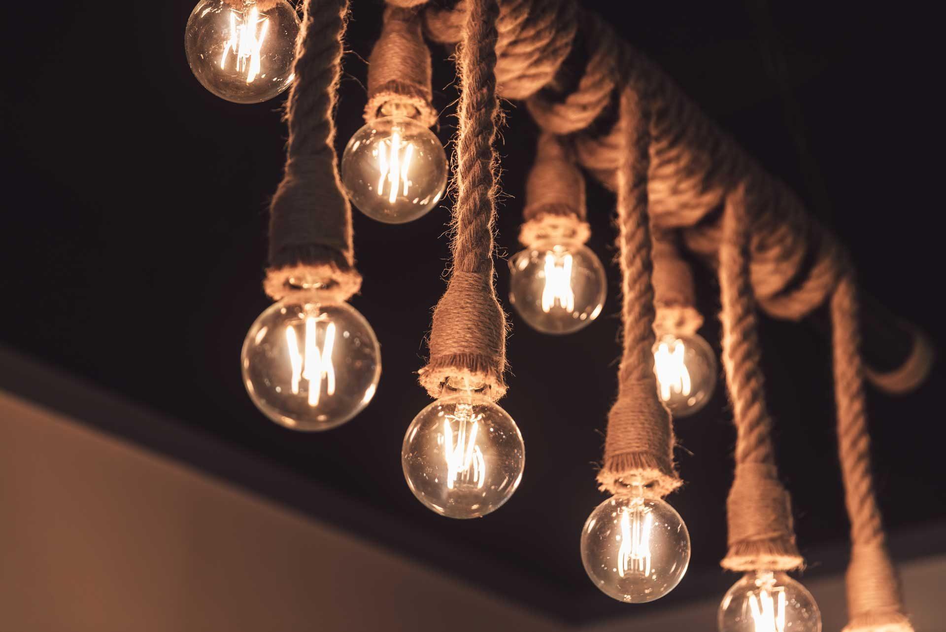 麻繩藝術造型吊燈